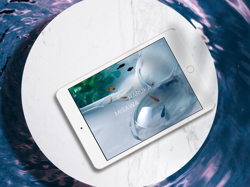 ENOI inspiration behance tablet artist exhibition magazine design ui web project concept
