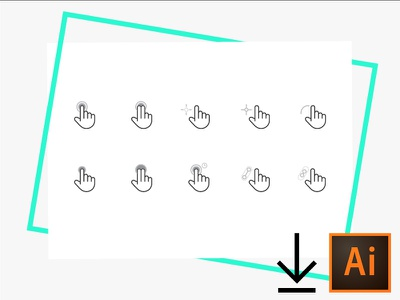 Interaction Icon set interaction icons hand touch gesture hand icons gesture icons