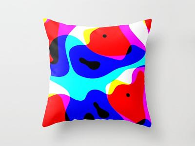 Hidden fox pillow society6 delicious pillow gradient fox color