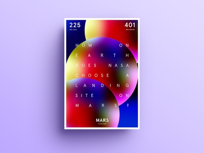 Mars - poster design poster typography type color colour form mars