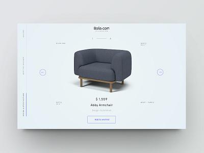 Product showcase vol.1 ecommerce furniture design minimal clean website web ui product