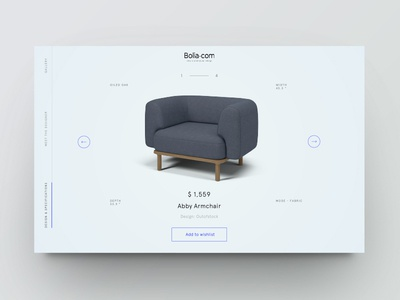 Product showcase vol.1 ecommerce furniture design minimal clean website web ui product