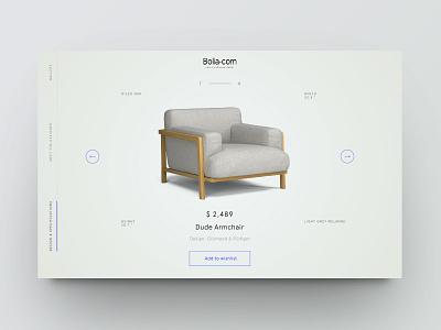 Product showcase vol.2 ecommerce furniture design minimal clean website web ui product