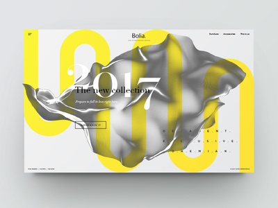 Landing page - new collection texture landing page clean design minimal ui ux web website type typography yellow black and white