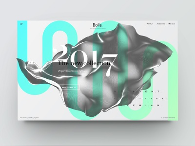 Landing page - new collection in green website web ux ui typography type texture minimal page landing clean black and white