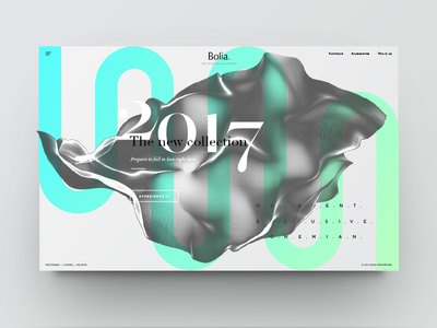Landing page - new collection in green