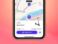 Escooter 🛴 bike shared design app vehicles mobi marti overlay button mobile scooters scooter qrcode maps bicycle map vehicle escooter