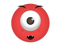 Mascot mascot icon logo bqra eye