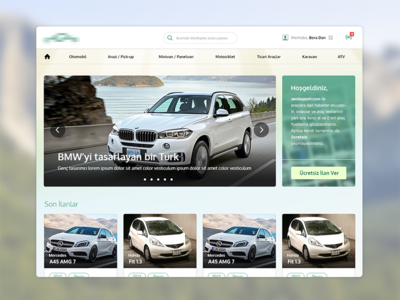 Social Network for Vehicles [Homepage Design]
