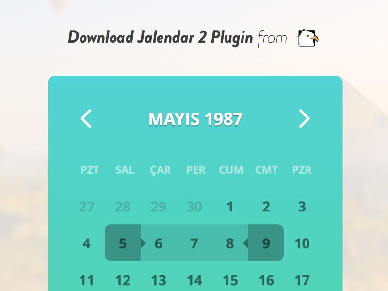 Jalendar 2 [Jquery Calendar Plugin] by Bora DAN on Dribbble