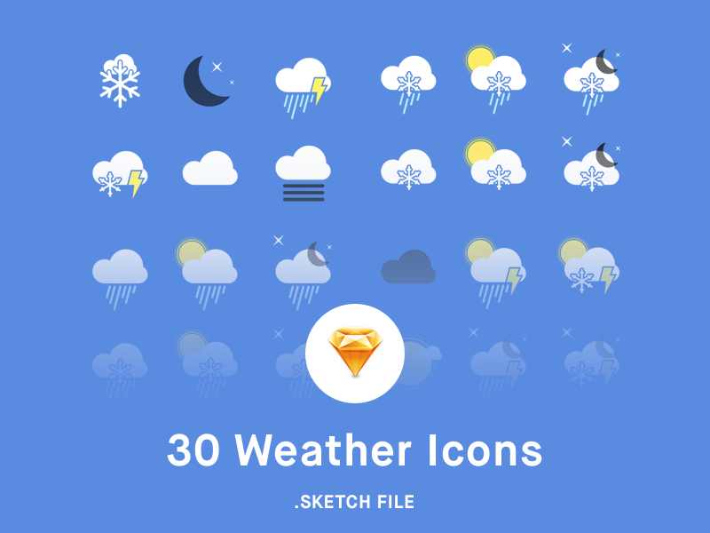Weather Icons [sketch] free snow rainy icon sunny app sketch iconset icons weather