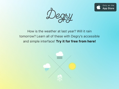 Degry - Weather forecast application [w/ free promo codes]