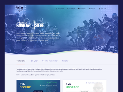 Esport Tournament 🎮 layout web play xbox ps4 console playing game cup tournament esport