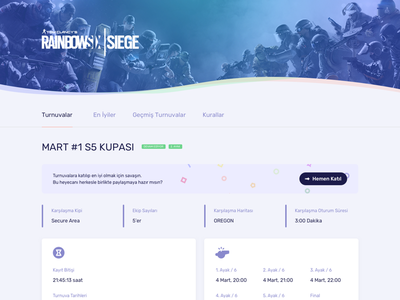 Esports Cup Detail Page layout web play xbox ps4 console playing game cup tournament esports esport