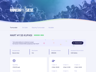 Esports Cup Detail Page
