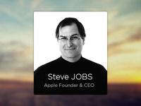 People Widget / Steve Jobs