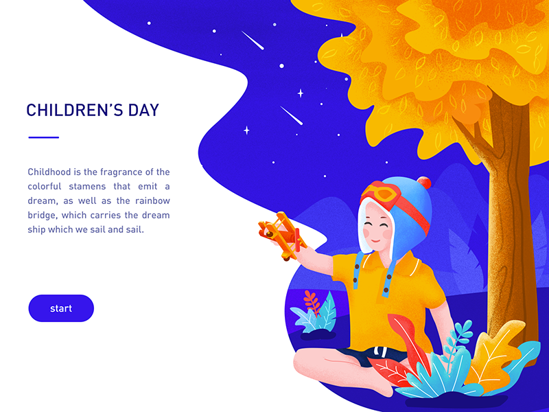 Children's Day ui day childrens color illustration