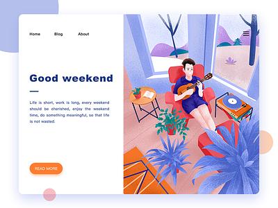 Good Weekend web color ui  ux illustration