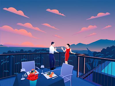 nice weekend color ui illustration