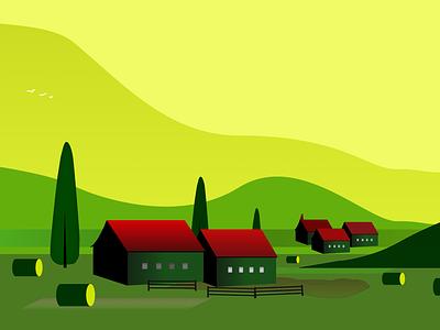 GoldenHour home screen new art branding illustration colors vector clean flat design