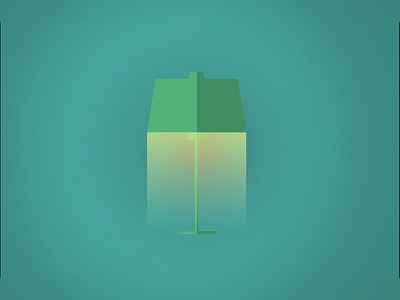 Lamp - illustration flat colors design vector illustration clean art