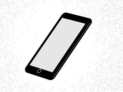 Smartphone 3D - illustration mobile logo vector home screen colors flat design clean art illustration