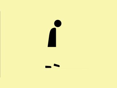 Man walking - illustration