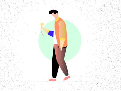 illustration - Man walking