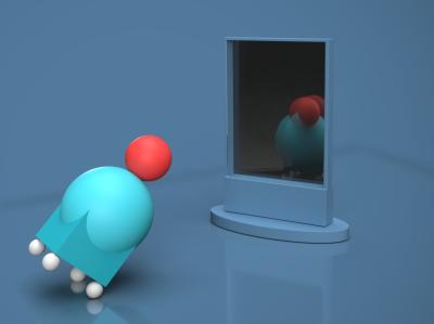 Mirror - Adobe Dimension vikash mj home screen design clean adobe dimension vector brand design branding
