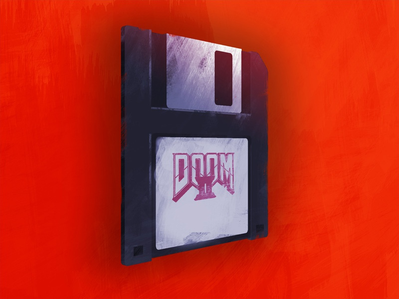 Floppy Disc Game floppy disc red paint photoshop retro game