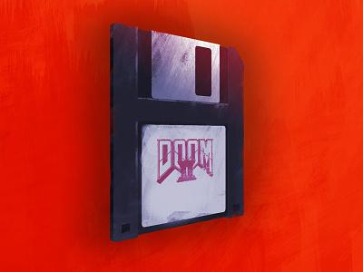Floppy Disc Game floppy disc red paint photoshop retro game