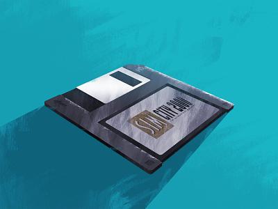 Floppy Disc Game floppy disc blue paint photoshop retro game