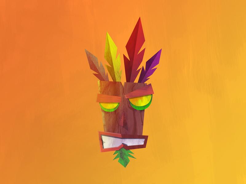 Aku Aku aku aku crash bandicoot ps1 playstation illustration mask games