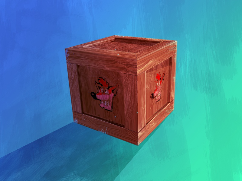 Crash 1UP Crate crash bandicoot ps1 playstation illustration mask 1up games