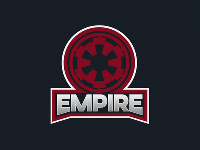 Empire Sports Badge galactic empire star wars logo sports empire