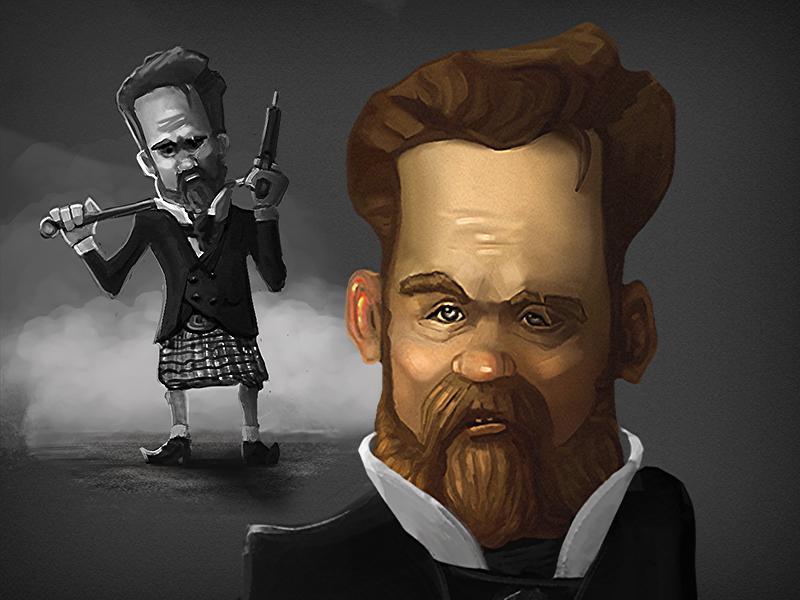 Mc Ethan the True Detective ) 2d illustration character