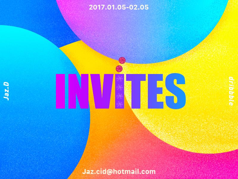2 INVITES logo sketch paint gradients drawing dribbble invitations invites interface ui web illustration