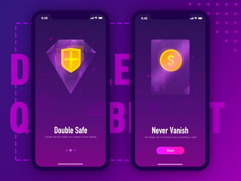 Finance Guide Page purple wallet finance drawing website web illustration logo ui page guide guidepage