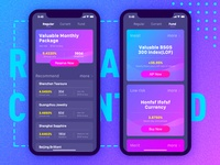 Finance app home page