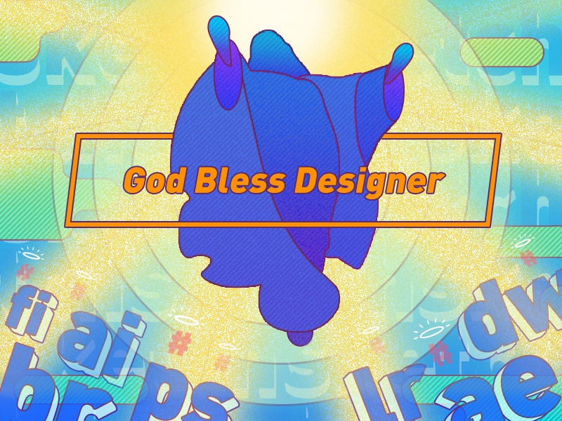 Ironic series one - God bless designer page interface vi website web dashboard icon logo