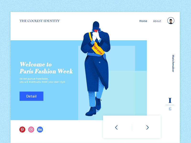 Welcome To Paris Fashion Week logo icon dashboard web website vi interface page