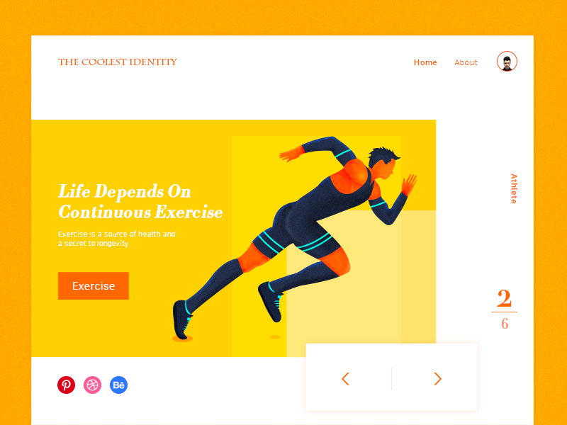 Life Depends On Exercise animation drawing illustration ui logo icon dashboard web website vi interface page