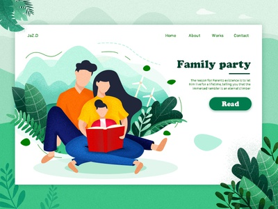 Family Day Is The Warmest Event At Weekend animation drawing illustration ui logo icon dashboard web website vi interface page