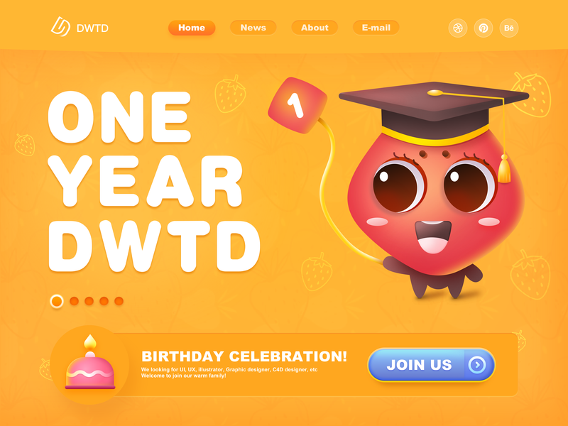 Happy Birthday To DWTD(Merry Christmas) new year merry christmas gradients drawing branding landing page motion typography graphic data interface page website animation icon dashboard ui illustration web logo