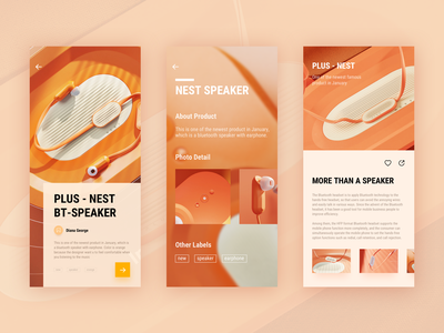 shopping page for earphone and speaker 电商 earphone speaker shopping design landing page motion typography graphic data interface page website animation icon dashboard ui illustration web logo