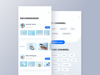 Recommend list page recommended sort classification clean landing page motion typography graphic data interface drawing page website animation icon dashboard ui illustration web logo