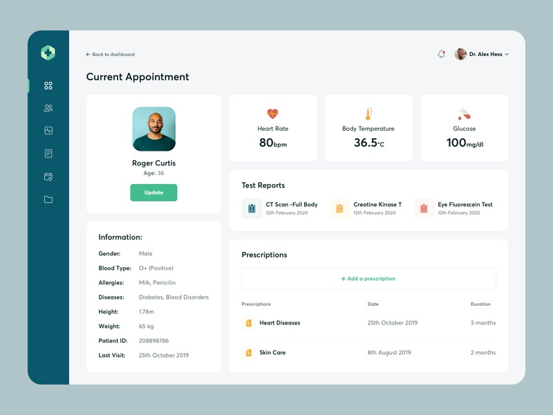 Healthcare Tool - Patient Page