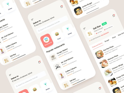 Food Delivery App concept template branding dsamivai teamoreo illustration 2d 3d flat payment form rating map clean minimal new trend icon vector graphic element popular trending google best dribbble free kit pack flutter react android ios hotel booking management restaurant food delivery service mobile app design agency user experience ux user interface ui