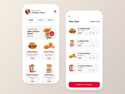 Restaurant App Design dsamivai pixeleton responsive catering service modern elegant location map flutter front-end ios android fluent material ecommerce shop dashboard cart wireframe popular food delivery concept clean typography new trend user interface experience ux mobile application ui restaurant app design