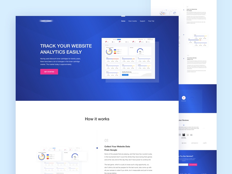 Landing Page - Website Analytics Services